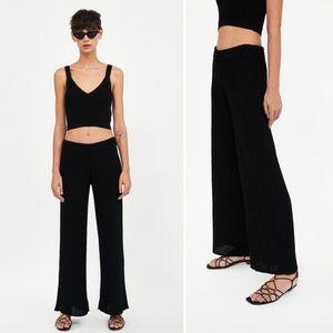 Zara Knit Loose Black Pants